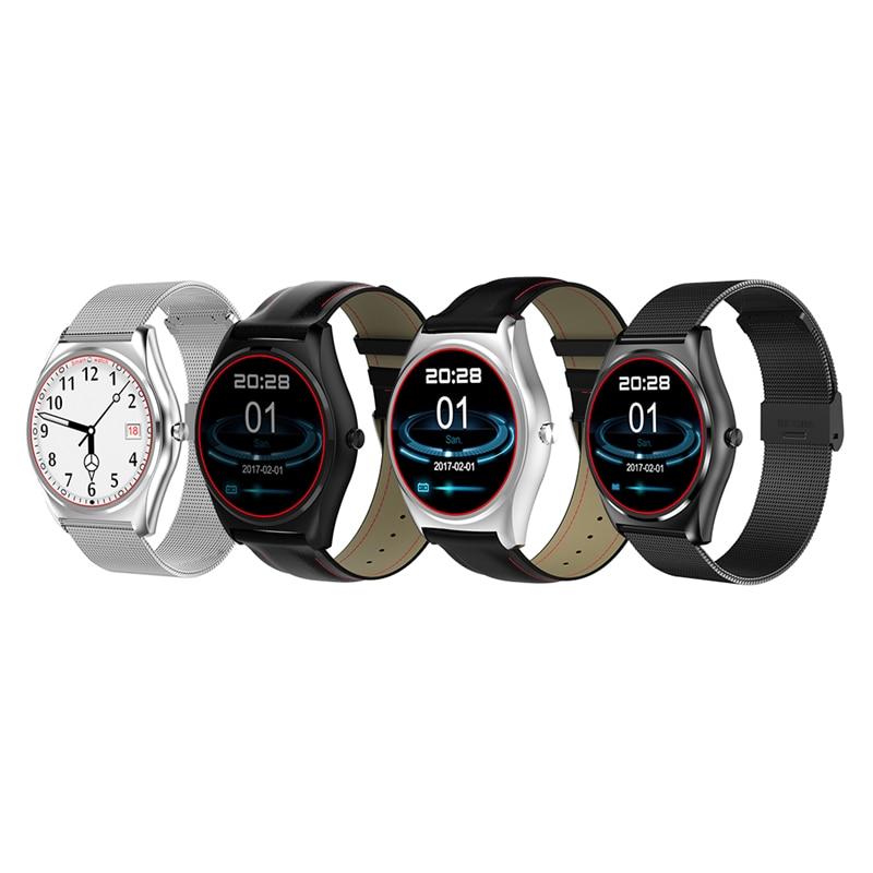 D'origine N3 1.3 pouce lcd IPS Bluetooth 4.0 Montre Smart Watch IPS Cercle HD LCD Montre Sans Fil De Charge Support de Fréquence Cardiaque surveillance
