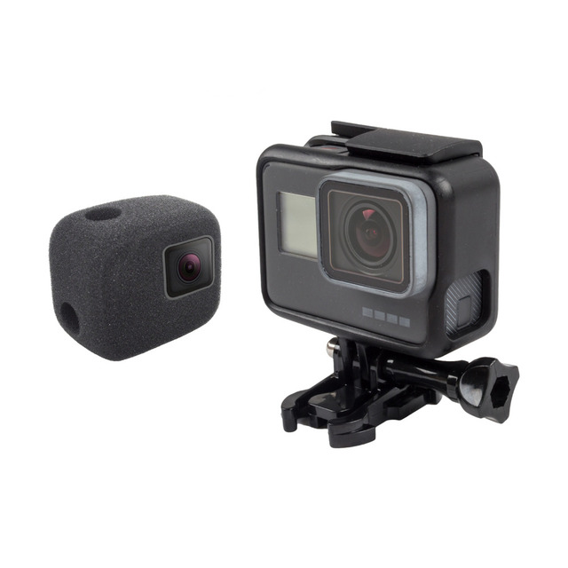 Wind Noise Reduction Sponge Foam Cover action camera accessories for Gopro Hero 5 6 Windproof Case Black accesorios go pro