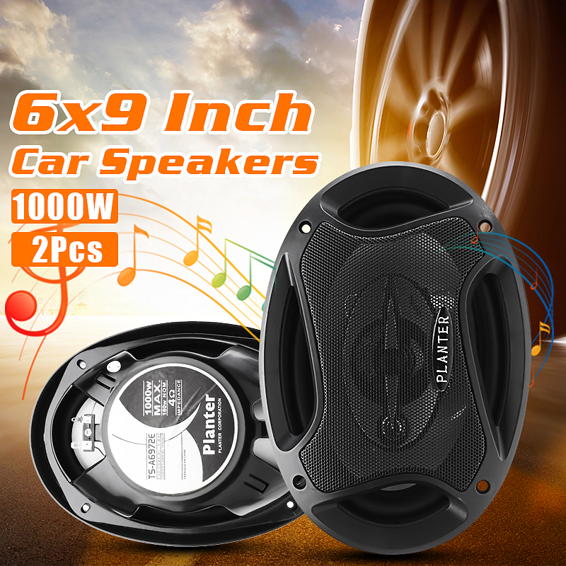 3 Way 2.5 Ohms Super Tone Car Door Coaxial 2Pcs 1000W 6x9 Inch Dash Audio Speakers High Penetrating Sound For Auto Car Boats игрушка s s toys bambini музыкальное пианино котик сс76753