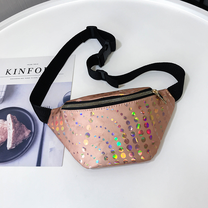 KM 2019 New Trend PU Leather Waist Bag Paillette Fanny Pack Glitter Travel Belt Wallets Ladies Waist Pack  Chest Bag for WomenKM 2019 New Trend PU Leather Waist Bag Paillette Fanny Pack Glitter Travel Belt Wallets Ladies Waist Pack  Chest Bag for Women