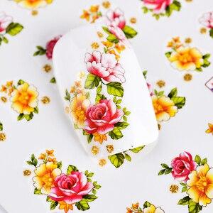 Image 4 - 55Pcs 3D Colorful Beauty Nail Art Stickers Nails Flower Decals Creative Adhesive Set DIY Nail Art Decoration Manicure TRBJC55