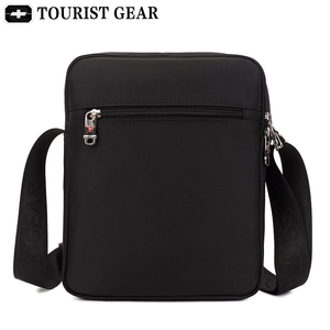 Image 2 - Vintage Oxford black swiss bags mens shoulder bag man Waterproof messenger crossbody bags for men 2019 bandolera hombre