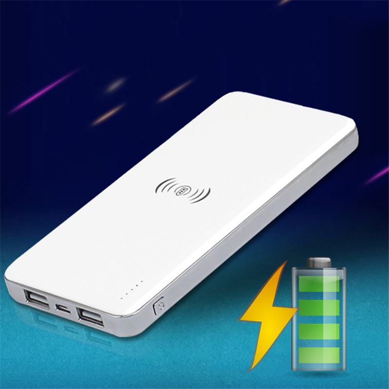 Qi Wireless cargador movi 10000mAh Wireless Power Bank Wireless Charger Portable