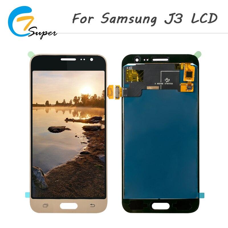 1 pcs J320 LCD Pour Samsung Galaxy J3 2016 LCD J320F J320M J320H LCD Affichage à L'écran Tactile Digitizer Assemblée Livraison outils