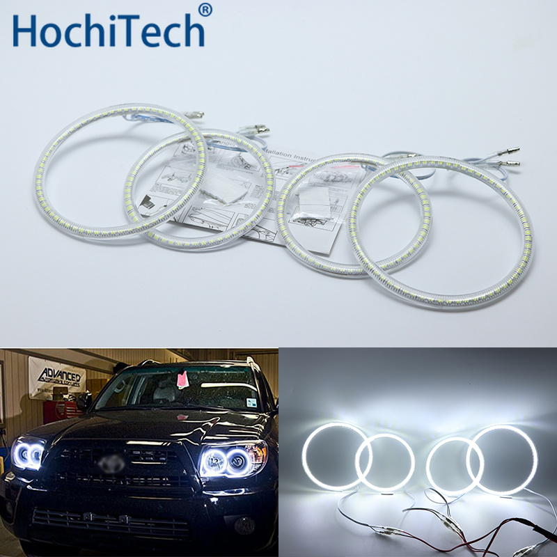 Ultra bright SMD white LED angel eyes halo ring kit daytime running light DRL for <font><b>Toyota</b></font> <font><b>4Runner</b></font> 2006 <font><b>2007</b></font> 2008 2009 image