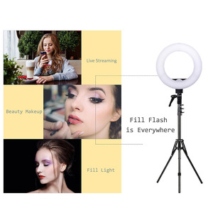 Image 5 - ZOMEI 14 inch Dimmable LED Ring Light Phone Holder Camera Photo Video Lighting Kit for Makeup Smartphone Youtube Video Shooting