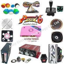 Arcade parts Bundles kit With Joystick 1 Player 2 player button ,Pandora Box 6 Game PCB to Build Up Arcade game Machine цены