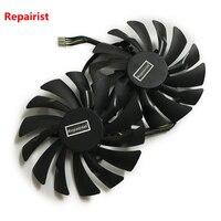 2pcs Lot Computer Radiator Cooler GPU Cooling Fans For MSI R9 380 390 390X GAMING Video