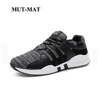 Flying Woven Upper Man Sneakers 2019 New Summer Breathable Wear Resistant Lace Up Man Shoes Large Size 39 To Size 48 Footwear