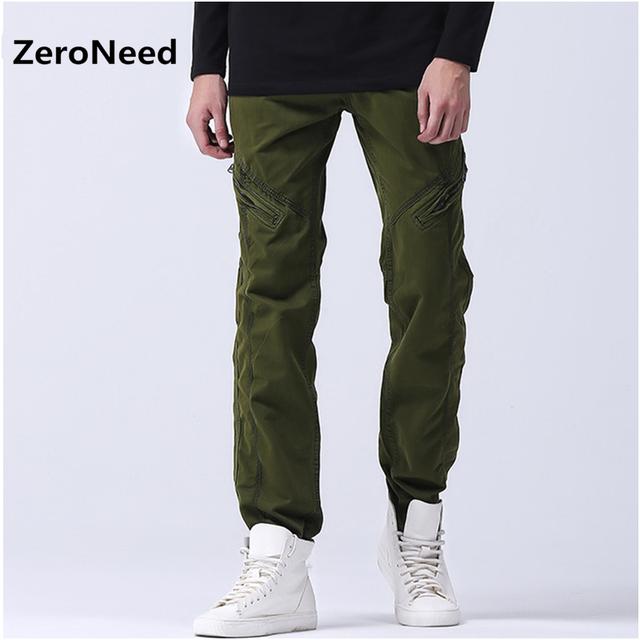 Pantalones de chándal Para MenTactical Ropa Justin Bieber Pantalones Cargo Hombres Pantalon Militar Verde Del Ejército Para Hombre Corredores Bolsillos Con Cremallera 58