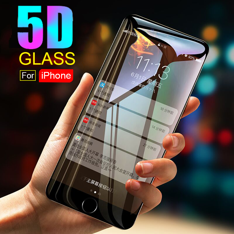 High Quality 5D Curved Full Cover Screen Protector For IPhone 6 6S 7 8 Plus X Xs Max XR 11 Pro Max 2019 9H 3D Tempered Glass