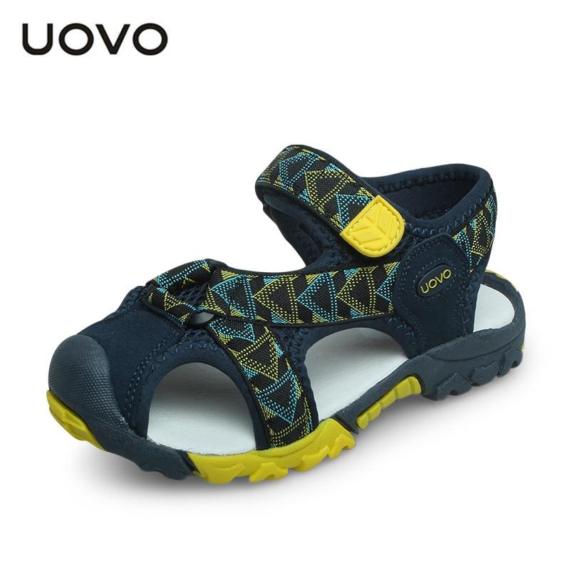 Uovo Sommer Jungen Schuhe Marke Kinder Sandalen Geschlossen-kappe Kinder Sandalen Hohe Qualität Sandalen Für Kleine & Große Jungen Eur 25 #-35 # Reinweiß Und LichtdurchläSsig