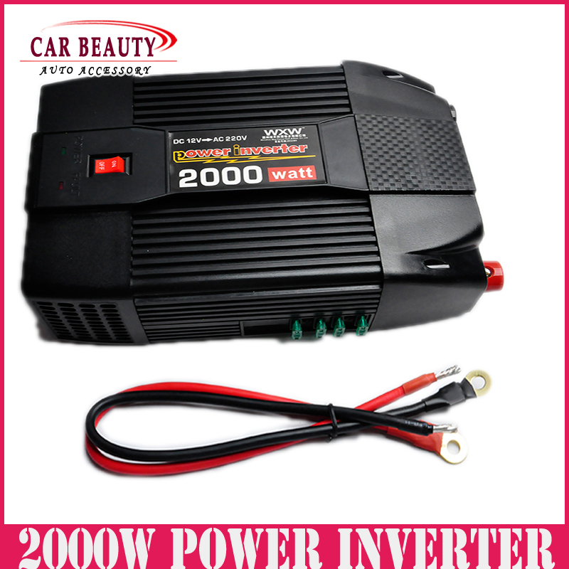 2000W Car USB Charger Power Inverter Adapter Modified Sine Wave 2000 Watt DC 12V to AC 220V Converter for Electronic catuo 1500 watt dc 12v to ac 220v power inverter charger converter 1000w dc 24 to ac 220 car charger adapter drop shipping