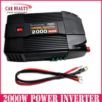 2000W Car USB Charger Power Inverter Adapter Modified Sine Wave 2000 Watt DC 12V to AC 220V Converter for Electronic