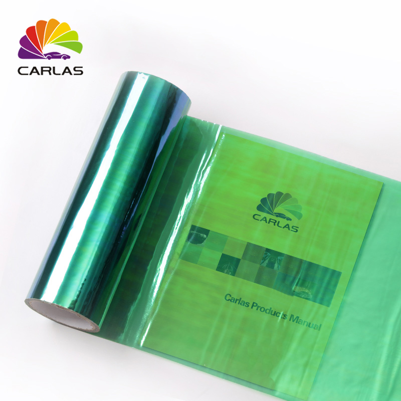 0 3x10M 12 quot x394 quot New Carlas Chameleon Transparent Car Headlight Color Changing Film Free Shipping in Car Stickers from Automobiles amp Motorcycles