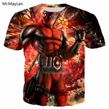 Funny Design Movie Deadpool 3D Print Tshirt Men/Women Hiphop Streetwear Tee T shirt Boys Cool Tops Red Clothes Drop shipping 6XL