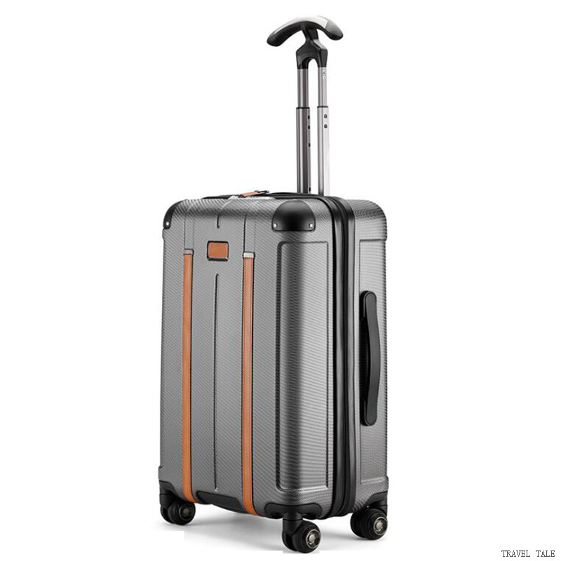 TRAVEL TALE new men and women spinner 20 trolley suitcase 24 abs rolling luggage bags for