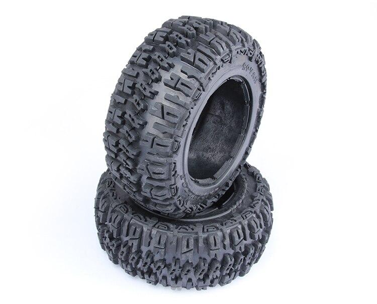 Rear Knobby Tire Set For  Baja 5T 5SC 2PC baja 5b dirt tire set 2pc front 2pc rear