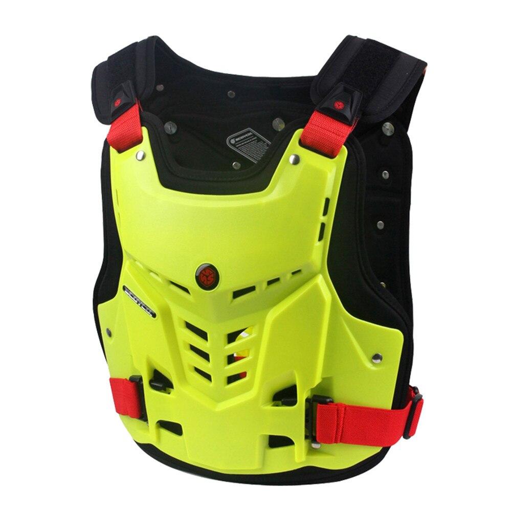 Armure de Moto Motocross Poitrine Back Protector Armour Racing Vest Protection De Moto Garde Du Corps Gilet Veste MX ATV Garde Noir