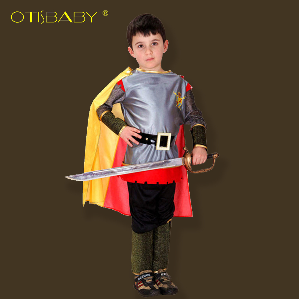 Free Shipping Boys Clothes Halloween Party Pirate Clothes for Kids Boys Knight Cosplay Costume Halloween Bullfighter Full Set halloween costume cosplay dance party show props cute siamese bats clothes for kids 228g