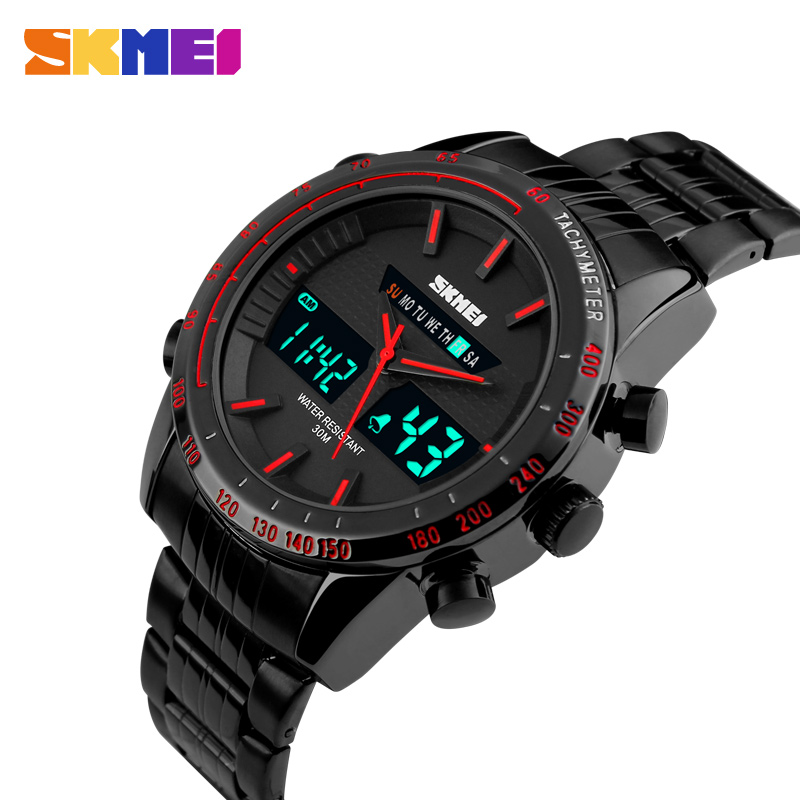 compare prices on watch skmei 1131 online shopping buy low price 2016 new luxury skmei men sports watches men s digital black military wristwatch full steel relogio masculino