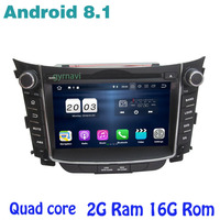 Android 8.1 Quad core Car dvd gps for hyundai I30 2011 2016 with 2g ram wifi 4G usb bluetooth mirror link Stereo