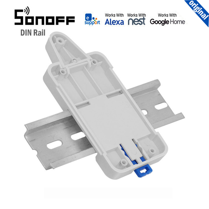 Sonoff DR DIN Rail Tray switchboard solution for Sonoff products ABS fire-retardant work with Sonoff Basic/ RF/ TH10 / Dual/ G1