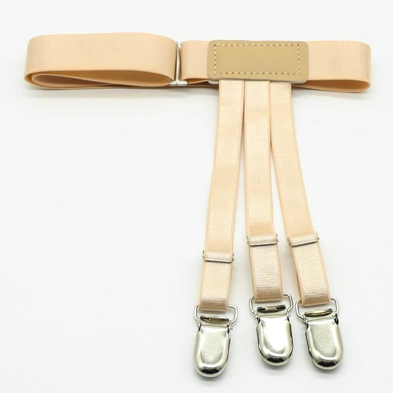 2018 New Mens Shirts Stays Garters Elastic Nylon Adjustable Shirt Holders Crease-Resistance Belt Stirrup Style Suspenders