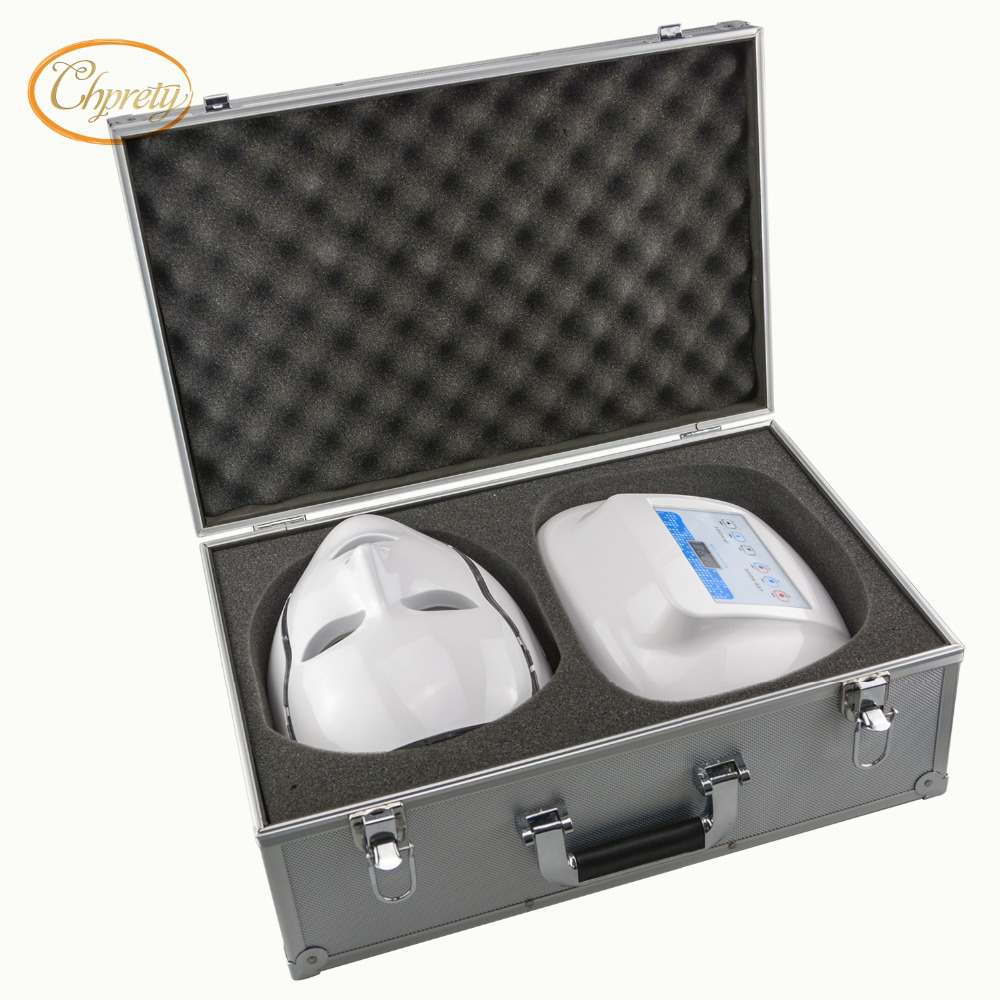 3 Color Photon LED Infrared Facial Neck Mask Skin Microcurrent Massager Rejuvenation Anti-Aging Beauty Therapy Home Use Clinic
