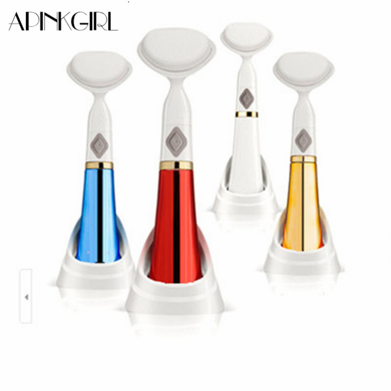 APINKGIRL 1Pcs Electric Facial Cleansing Brush Not Included Battery Washing Face Remove Blackhead Vibration Massager Skin Care