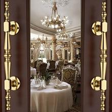 250mm modern fashion unfold install big gate door handles shiny silver gold wood door handles  Ktv  Hotel Home wood door pulls
