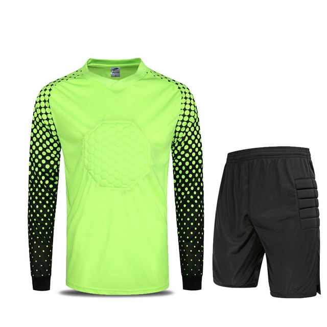 Long Sleeve Goal Keeper Soccer Sets Football Jerseys and Short and Jacket  Tracksuit Training Suit Adult Football Custom Uniforms b5dff7e74