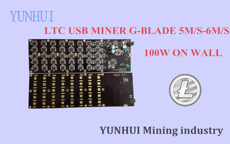 YUNHUI Minière machine fournisseur vente utilisé Gridseed 5.0-6MH100W USB MINEUR LTC machine d'extraction mieux que zeus ASIC Scrypt MINEUR