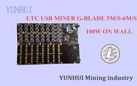 YUNHUI горнодобывающая машина поставщик продает Подержанные зерновые 5,0-6MH100W USB шахтер LTC шахтерная машина лучше, чем zeus ASIC Scrypt шахтер