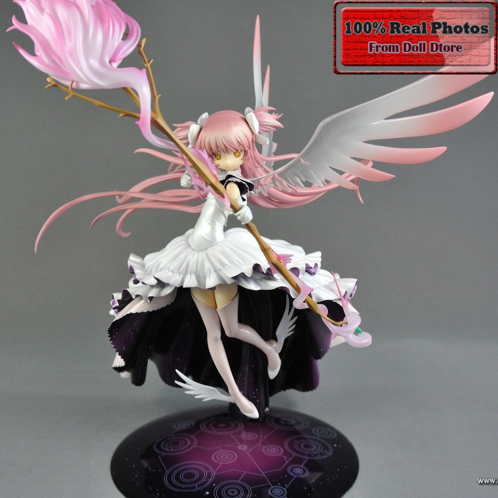 16.5cm Puella Magi Madoka Magica Japanese anime figure Kaname Madoka action figure collectible model toys puella magi madoka magica tomoe mami gold short cosplay wig free two ponytails