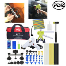 pdr rods hook tools paintless dent repair car dent repair dent removal led lamp dent puller lifter glue gun tap down tool PDR Tools Paintless Dent Removal Dent Lifter Puller Bridge Hail Repair Glue Gun Tools Car Body Dent Remover Repair Puller Kit