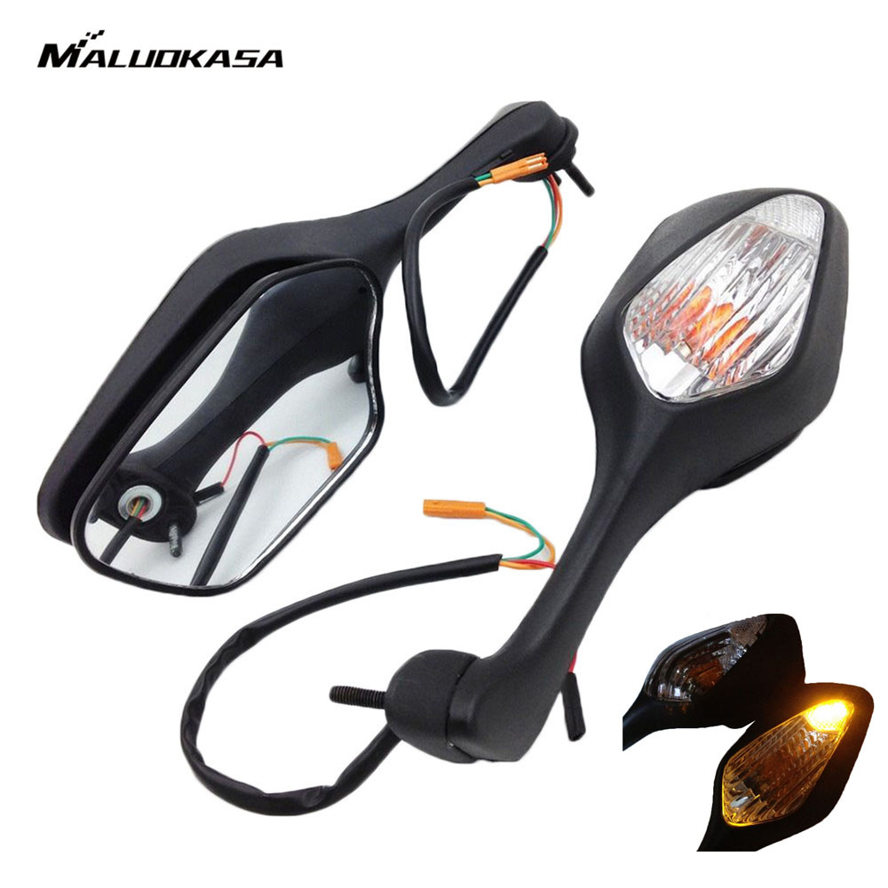 Moto Espelhos Retrovisores MALUOKASA Integrar Turn Signal Para Honda CBR 1000RR 2008 2009 2010 2011 2012 2013 Espelhos Laterais Da Motocicleta