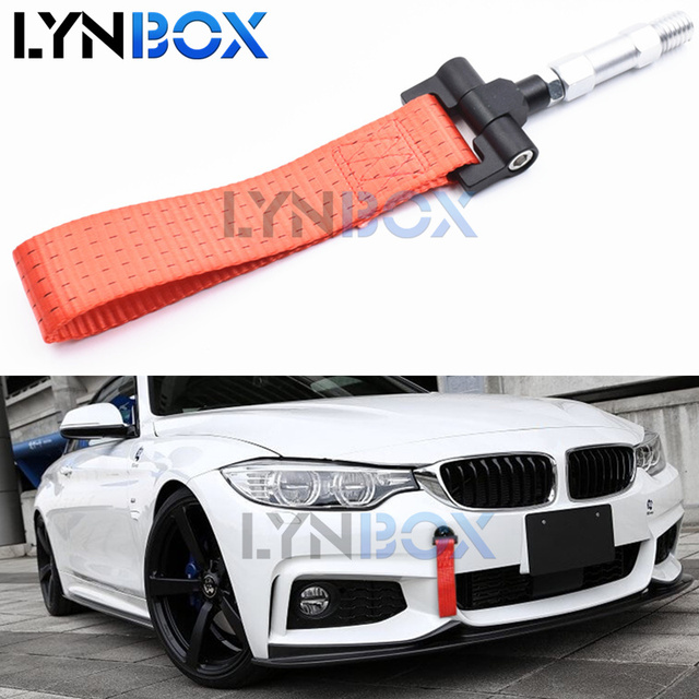 Red Tow Hook Towing Trailer Belt Strap Ropes For New Bmw F10 F11 F20 F21 F22 F30 F31 F32 F80 F81 F82 Cars Retrofit Diy Style