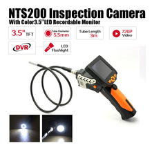 Free Shipping!3.5″ LCD Inspection Camera 5.5mm Borescope Endoscope Scope Zoom Rotate 3M Cable