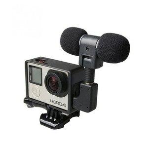 Image 4 - Mini Microphone stéréo pour Gopro Hero 4 3 accessoires monture de boîtier de protection pour caméra daction Go Pro 3.5Mm pas de bruit micro