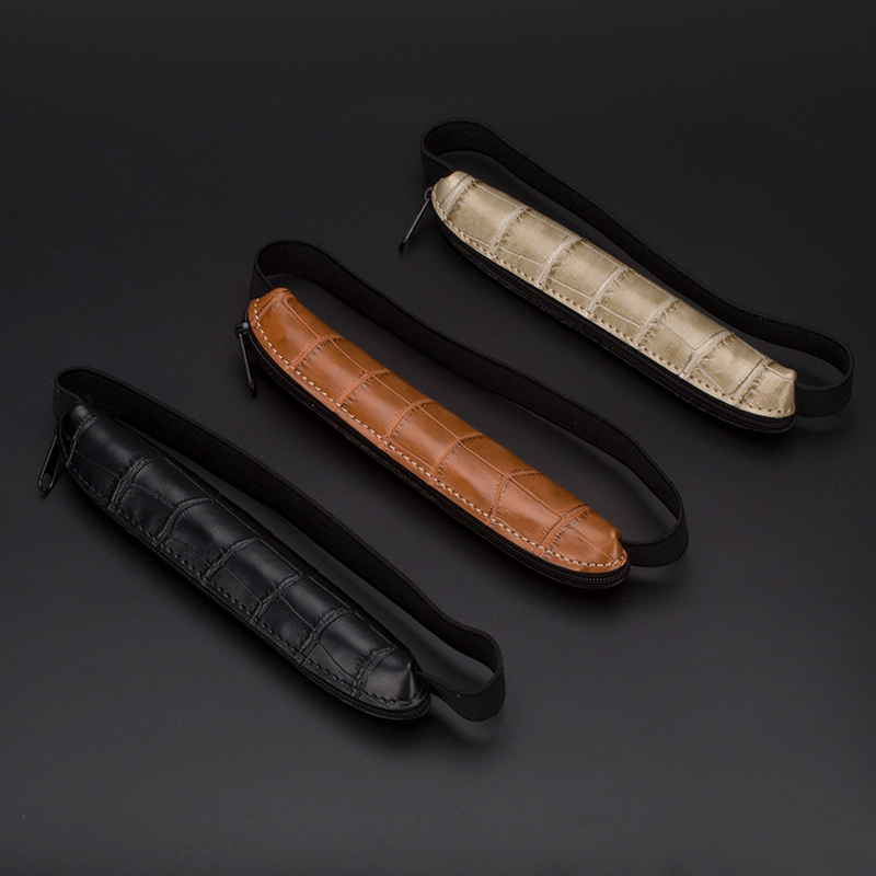High Quality Zipper Pen Case Bag For Luxury Fountain/Ballpoint/Rollerball Pen With Elastic Pen Protective Pouch