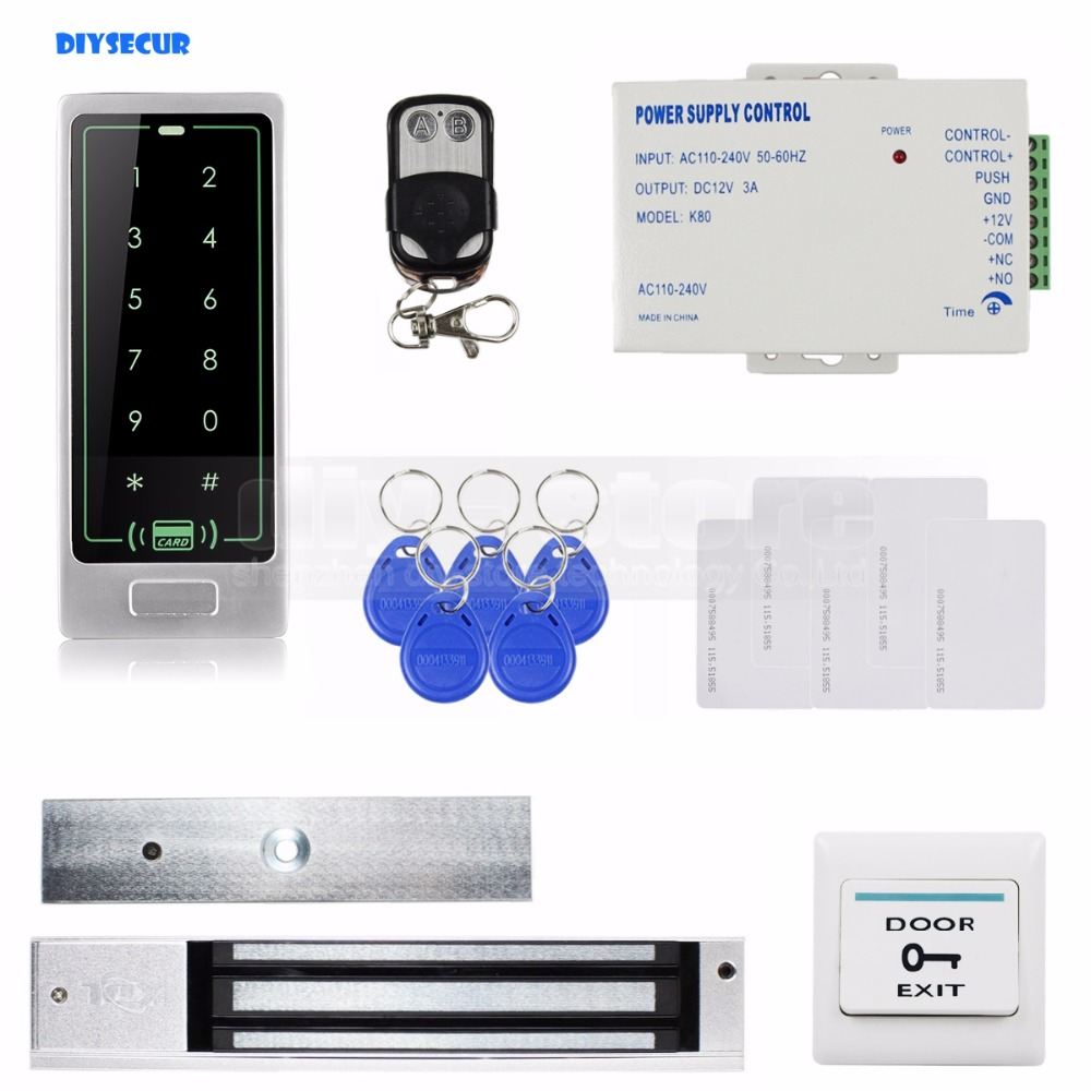 DIYSECUR Remote Control Touch Panel Backlight RFID Reader Password Keypad Door Access Control Security System Kit