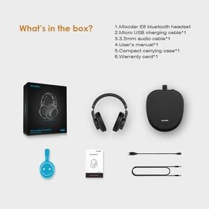 Image 5 - Беспроводные наушники Mixcder E8 с активным шумоподавлением, Bluetooth наушники с микрофоном, накладная гарнитура с глубокими басами для ТВ, ПК, телефонов