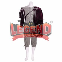 Queen Elizabeth Tudor Period Medieval Men cosplay grey outfit Vintage Mens Costumes Renaissance Gown with cape