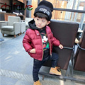 chifave 2016 New Winter Kids Boys Clothing Small Turtleneck Thick Warm Outerwear Coat Zipper Letter Pattern Boys Jacket 2 Colors
