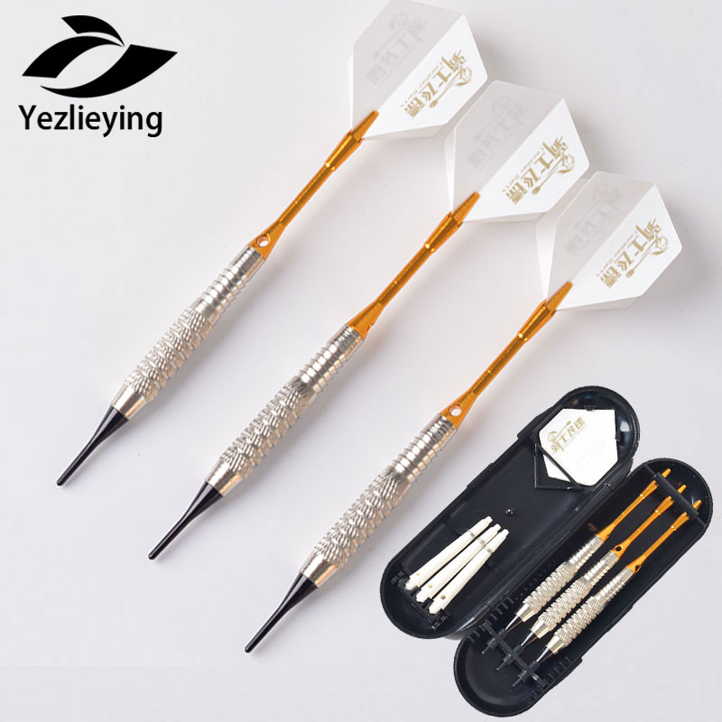 3pcs/ Set High Quality Aluminum Shaft Soft Tips Dart Soft Tip Darts 16g Dart Needle Throwing Electronic Tip For Dartboard