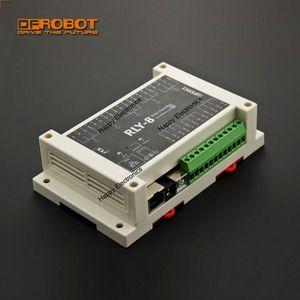 Image 1 - DFRobot 8 Channel Ethernet Relay Controller RLY 8 POE USB, STM32 input 7~23V/44~57V Relay 277V 10A/125V 12A Support PoE and USB