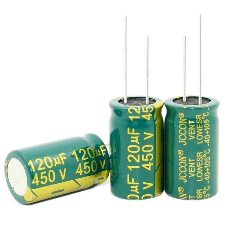 Новый оригинальный высокочастотный и низкий уровень сопротивления 450V 120UF 120 мкФ 450V Объем электролитного конденсатора 18*30 мм, отличное качество|electrolytic capacitors|450v 120uf120uf 450v | АлиЭкспресс