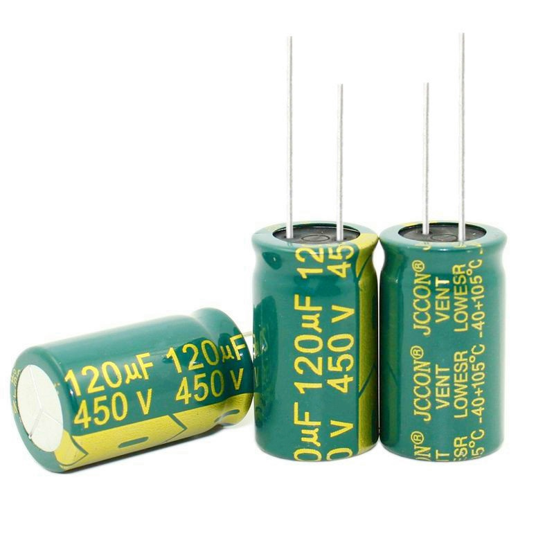 New Original High Frequency and Low Resistance 450V 120UF 120UF 450V Electrolytic Capacitor volume 18*30MM best quality image