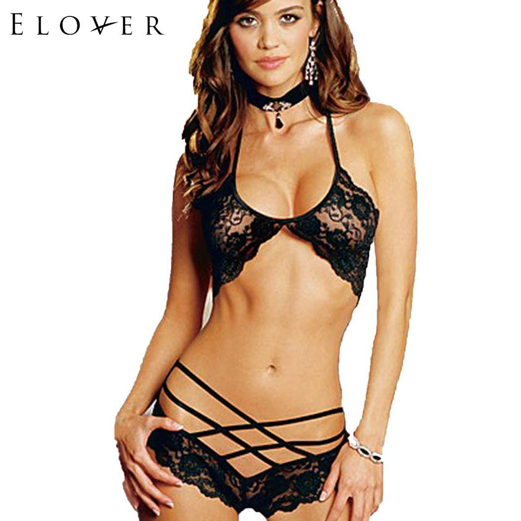 <font><b>Elover</b></font> Ladies Hot <font><b>Sexy</b></font> <font><b>Lingerie</b></font> Halter Sleepwear Lace Costumes Women <font><b>Sexy</b></font> <font><b>Underwear</b></font> Temptation Erotic <font><b>Lingerie</b></font> Porno Costumes image